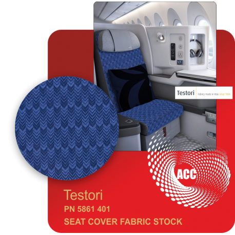 PN 5861 401 SEAT COVER FABRIC STOCK